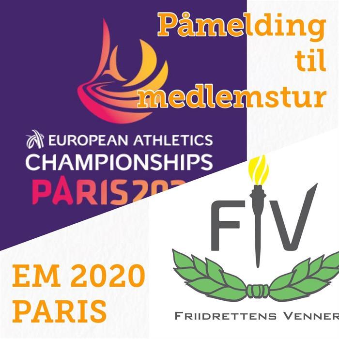 Bli med til friidretts-EM i Paris 2020!