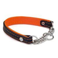 Halsband m kedja 30cm orange -