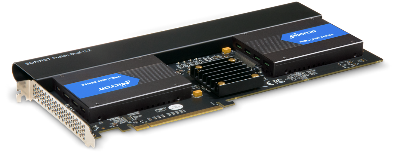 Sonnet PCIe kort for 2 NVMe SSD