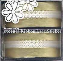 DL- Sticker Ribbon lace white 03