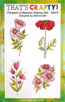 A5 Clear stamp set Flowers Collection set 6