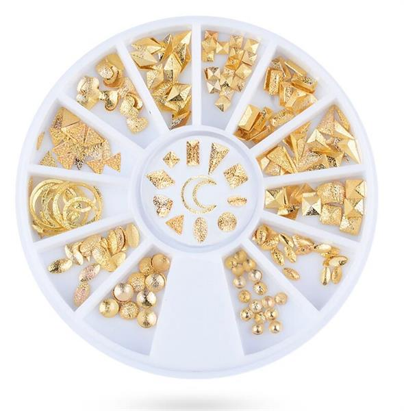 KN- WHEEL Frosted Gold Metal Deco