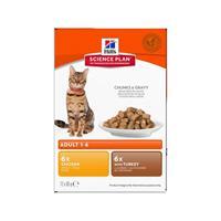 Hills Katt Adult Poultry Chunks in Gravy 12x85g
