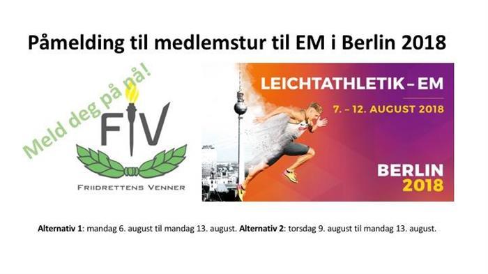 Bli med til friidretts-EM i Berlin 2018