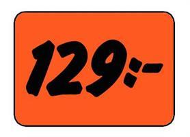 Etikett 129:- 50x30mm
