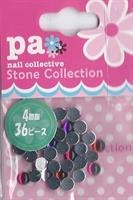 DL- Round red pink purple 4mm