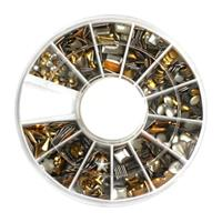KN- WHEEL Gold metallic studs