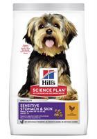 Hills Hund Adult Sen.Stomach&Skin Small&MiniChicken 1.5kg