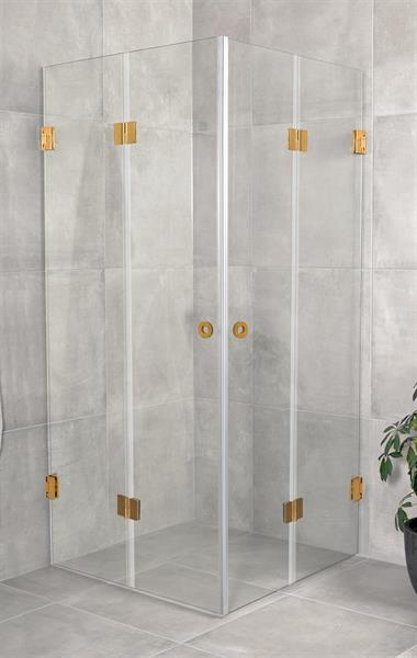 RoyalBath Lyxig Vikbart Duschhörn, 80x80 cm Klarglas, GD