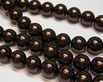 Vaxade glaspärlor brun
