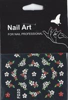 NA- Sticker Flower red & white
