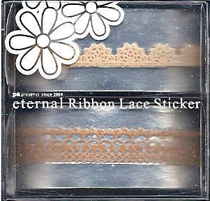DL- Sticker Ribbon lace nougat