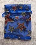 Organzapåse blå m stjärnor