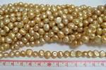 Sötvattenpärla nuggets 7-8mm beige
