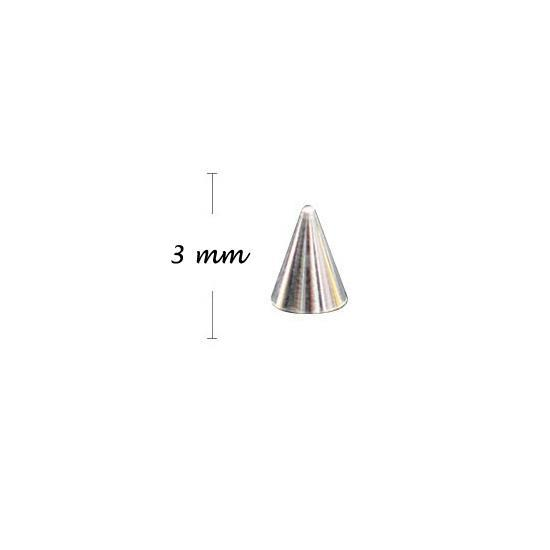 KN- Studs High SILVER 3 mm