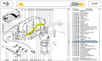 TUY SORT RES.   /FILTRE ESSENCE - Hose-Outlet fuel tank to filter inlet