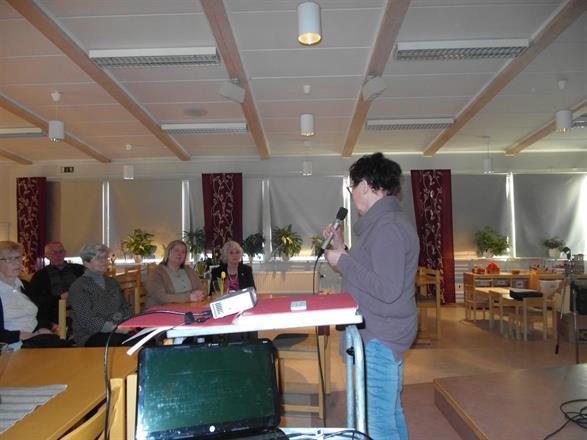 Birgitta Backlund föreläser, Missionshuset Vännäs