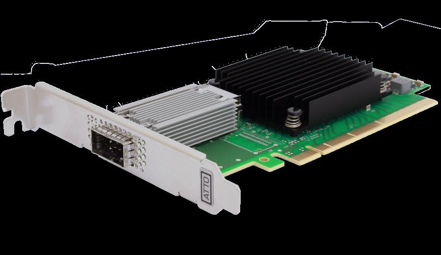 Atto FastFrame single 100 Gbe PCI-e kort