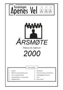 Program for Årsmøte 2000