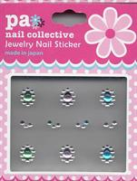 DL- Sticker Jewel green pink blue