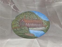 Platta bro målad