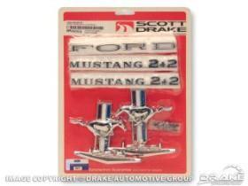 1965-66 EMBLEMKIT FOR V8 FASTBACK