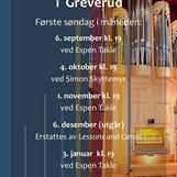 Orgelkonserter i Greverud kirke høsten 2020