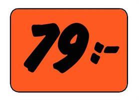 Etikett 79:- 30x20mm
