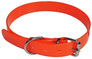 Jakthalsband PVC Orange S 43-48cm