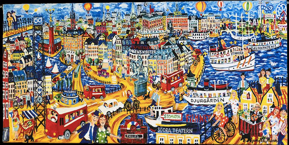 Stockholm  Mina Drömmars Stad (140x70 cm)