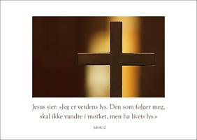 Bibelkort - Jeg er verdens lys
