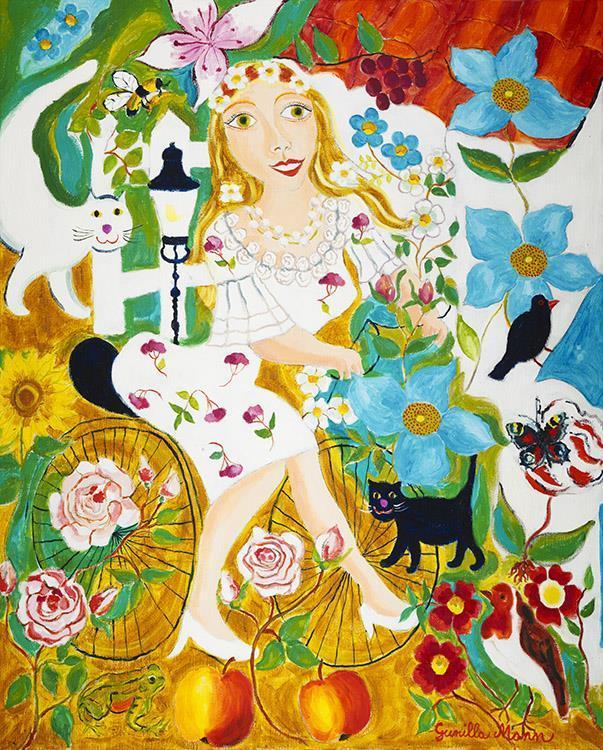 Längtan Blå Blomma (81x100)