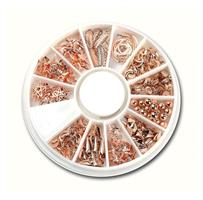 KN- WHEEL Rose Gold Metal Deco