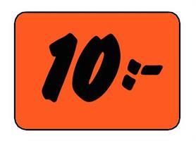 Etikett 10:- 30x20mm