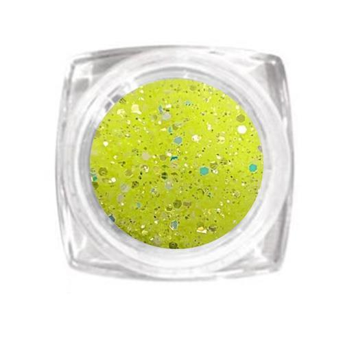 KN- Jar glitter YELLOW 1mm