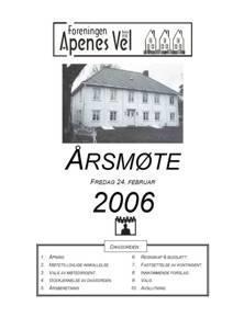 Program for Årsmøte 2006