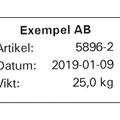Etikettskrivare PC43d med inmatning