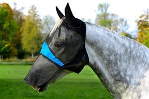 Flughuva Med Öron & Mulskydd Svart Small Ponny