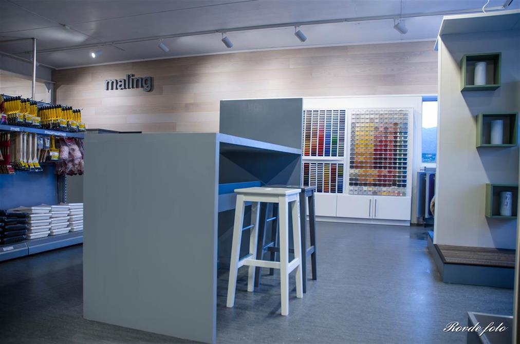 Konsept- og butikkutvikling - Byggfag Herøy, Bygg & System AS. Fotograf: Bjarte Rovde - Rovde Foto
