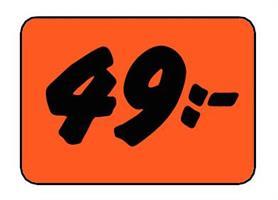 Etikett 49:- 50x30mm
