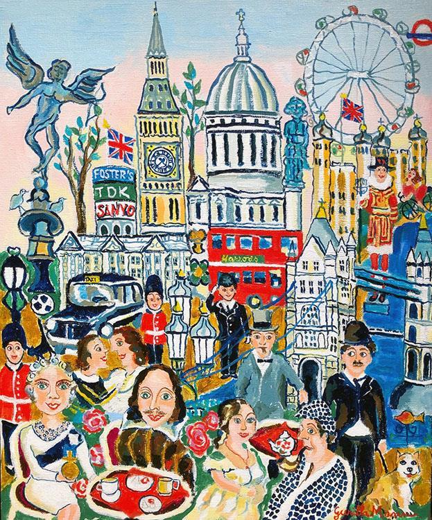 I hjärtat av London (46x55)