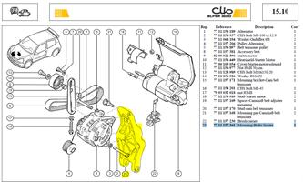 SPPT MOT/ALTER - Mounting alternator