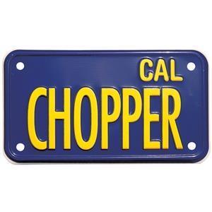 "Nummerskylt ""Cal Chopper"" för MC"