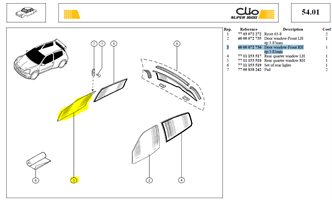 CLACE PORTE D - Door window-Front RH