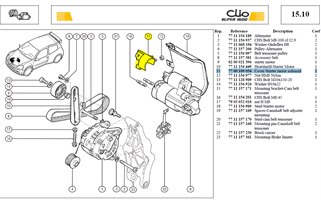 BARRETTE ELEC. - Cover-Starter motor solenoid