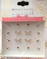 DL- Sticker Jewel gold bow