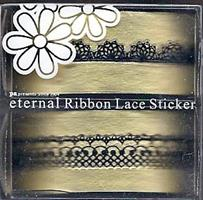 DL- Sticker Ribbon lace black