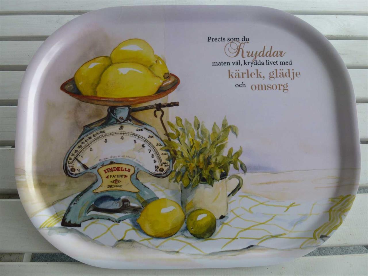 Bricka citroner 41 x 33 cm