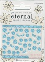 DL- PA Sticker Blue Flowers