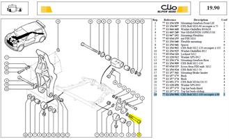 VIS CHCM12X100  RECOUPEE LG:86MM - CHS Bolt M12-100